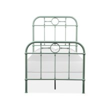 Complete Twin Metal Bed - Green