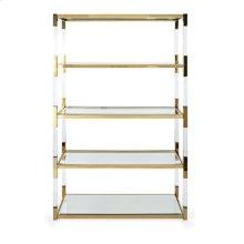 NK Walasso Acrylic and Stainless Steel Bookshelf