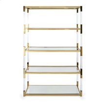 NK Walasso Acrylic and Stainless Steel Bookshelf