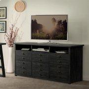 Perspectives - Entertainment File Cabinet - Ebonized Acacia Finish Product Image