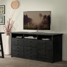Perspectives - Entertainment File Cabinet - Ebonized Acacia Finish