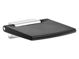 Tip-up seat - chrome-plated/dark grey (RAL 7021) Product Image