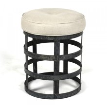 Recycled Metal Round Stool