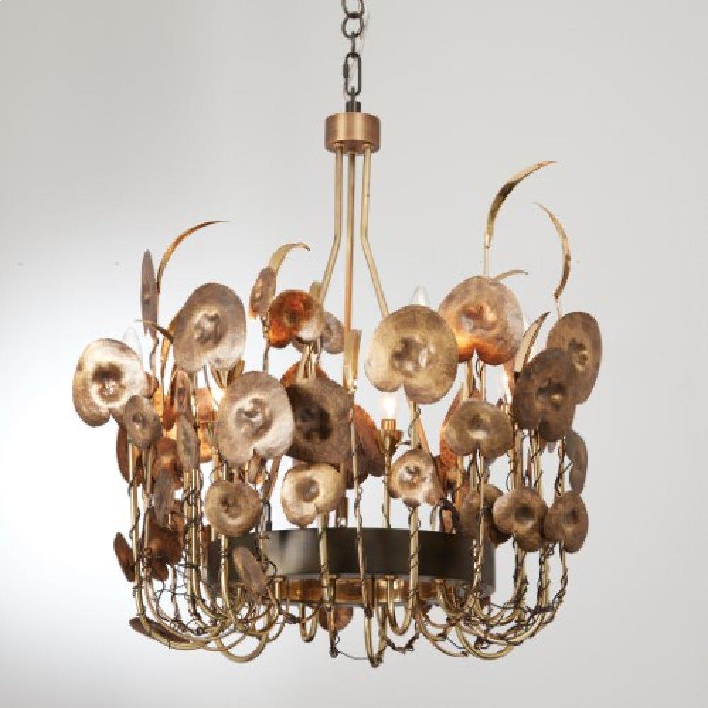 Lilium Chandelier-Antique Brass