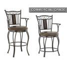 "Barbara Jumbo Swivel Bar Chair with Armrest, 24""x24""x48"" Product Image"