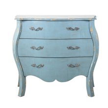 Distressed Blue French Drawer Chest