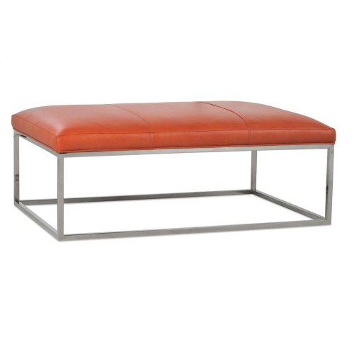 Percy Leather Cocktail Table - Chrome