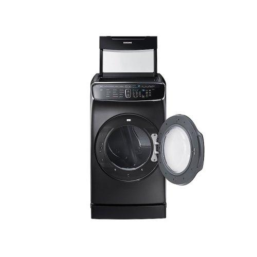 7.5 cu. ft. FlexDry Gas Dryer in Black Stainless Steel