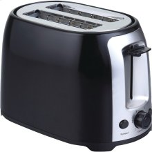 2-Slice Cool-Touch Toaster with Extra-Wide Slots (Black & Stainless Steel)