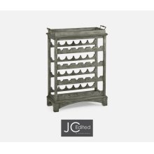 Four-Tier Wine Shelf in Antique Dark Grey
