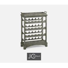 Four-Tier Wine Shelf in Antique Dark Grey
