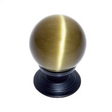 Oil Rubbed Bronze 30 mm Amber Cat's Eye Knob