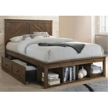 3015 Ashland Full Bed with Dresser & Mirror