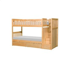 Bunk Bed with Reversible Step Storage and Storage Boxes