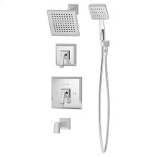 Symmons Oxford® Tub/Shower/Hand Shower System - Polished Chrome
