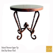 Hammer Copper Large Occasional Table