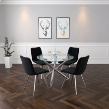 Solara II/Marlo 5pc Dining Set, Black