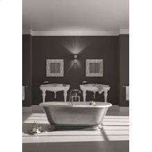 SANDRINGHAM Cast Iron Bathtub with Burnished Exterior With Continuous Rolled Rim