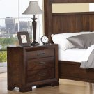 Riata - Three Drawer Nightstand - Warm Walnut Finish Product Image