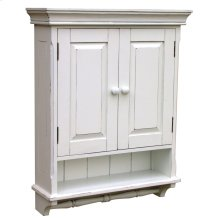 Provincial Mirrored Cabinet - Wht