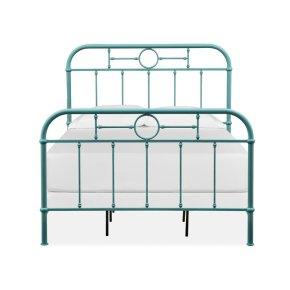 Complete Full Metal Bed - Blue