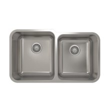 ProInox E200 Double Bowl Undermount Kitchen Sink ProInox E200 18-gauge Stainless Steel, L15X17X9 R14X16X8