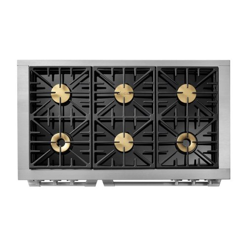 """48"""" Heritage Dual Fuel Pro Range, Silver Stainless Steel, Natural Gas/High Altitude"""