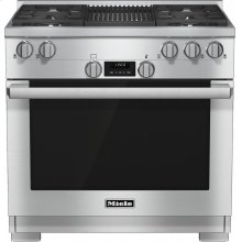HR 1135-1 G 36 inch range All Gas with DirectSelect, Twin convection fans and M Pro dual stacked burners