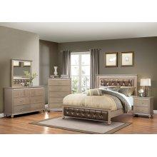 3PC Queen Bed, Dresser/Mirror