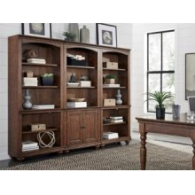Door Bookcase (Available in Whiskey Brown or Peppercorn Grey Finish)