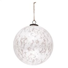 "10"" Classic White Ball Ornament"