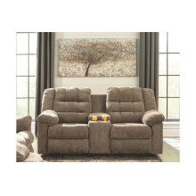 ASHLEY 5840188 Workhorse Cocoa Double Reclining Console Loveseat