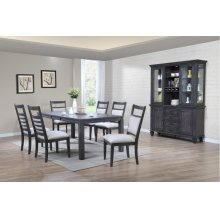 DLU-EL9282-C90-BH9PC  9 Piece Dining Set with China Cabinet  Gray