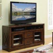 Windridge - Glass Door TV Console - Sagamore Burnished Ash Finish Product Image
