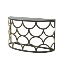 Ebonised Connaught Console Table - Ebonised & Gilt