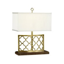 Gilded Gothic Trellis Table Lamp