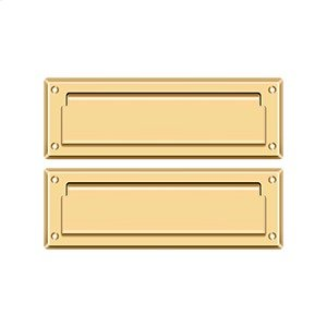 """Mail Slot 8 7/8"""" with Back Plate - PVD Polished Brass Product Image"""