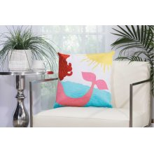 """Outdoor Pillow L3164 Multicolor 18"""" X 18"""" Throw Pillow"""