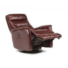 Alden Leather King Power Swivel Gliding Recliner
