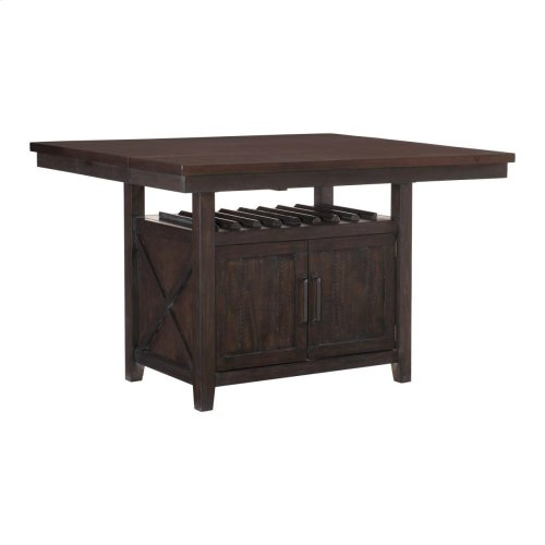 Counter Height Table with Storage Base