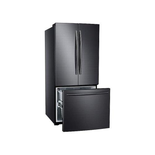 22 cu. ft. French Door Refrigerator in Black Stainless Steel