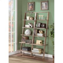 Lean Living - Leaning Bookcase - Smoky Driftwood Finish
