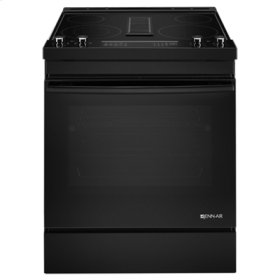 "Black Floating Glass 30"" Electric Downdraft Range"