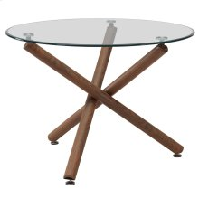 Rocca Round Dining Table in Walnut