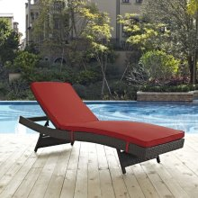 Sojourn Outdoor Patio Sunbrella® Chaise in Canvas Red