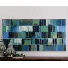 Glass Tiles Hand Painted Canvas