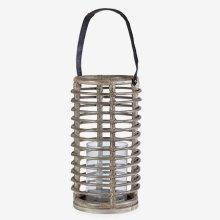 Round Lantern - Natural Brown