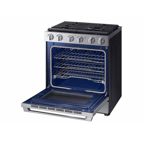 """5.8 cu. ft. 30"""" Chef Collection Professional Gas Range with Dual Convection in Stainless Steel"""