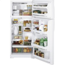 GE® 18.2 Cu. Ft. Top-Freezer Refrigerator (This is a Stock Photo, actual unit (s) appearance may contain cosmetic blemishes. Please call store if you would like actual pictures). This unit carries our 6 month warranty, MANUFACTURER WARRANTY and REBATE NOT VALID with this item. ISI 34729