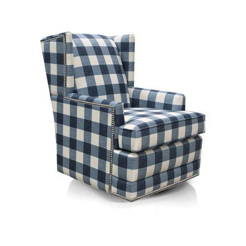 Shipley Swivel Chair with Nails 490-69N